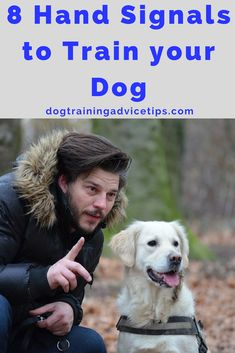 8 Hand Signs to Train Your Dog - Dog Obedience Training Tips - # - Hunde Dog Commands Training, Dog Training Courses, Basic Dog Training, Leash Training, Training Your Puppy, Potty Training, Training Dogs, Training Classes, Agility Training