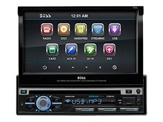 BOSS AUDIO BV9979B SingleDIN 7 inch Motorized Touchscreen DVD Player Receiver Bluetooth Detachable Front Panel Wireless Remote * Want to know more, click on the image.