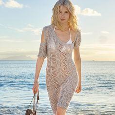 Асимметричное платье с ажурным узором