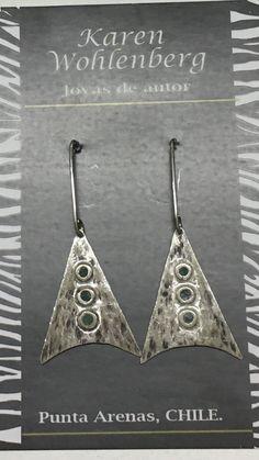 Aros de plata selknam AR0625