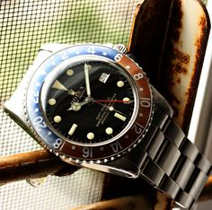 Rolex Vintage GMT-Master Gilt Dial Reference 1675 With Original Faded Bezel