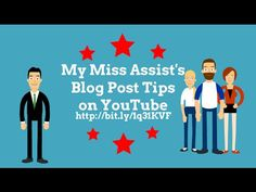 Blog Tips From My Miss Assist. Missy Tincher from My Miss Assist provides weekly blog tips (and content marketing tips) for new bloggers. Subscribe to the YouTube Channel at https://www.youtube.com/user/mymissassist