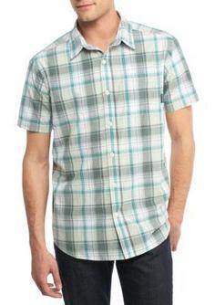 Columbia Pond Plaid Thompson Hill8482 Short Sleeve Yarn Dye Shirt