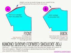 Kimono Sleeve Forward Shoulder Adjustment
