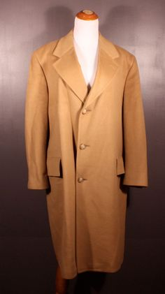 Malcolm Kenneth 100% cashmere coat, men's size XL, available at our eBay store! $65