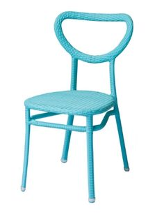 Edina II is a colorful, playful design reminiscent of bentwood, interpreted in reinforced aluminum tubing with UV resistant polyethylene weaving. Tropical Outdoor Furniture, Bar Stools, Blue, Color, Design, Home Decor, Bar Stool Sports, Decoration Home, Room Decor