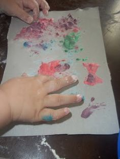Puffy Paint - Just add one tablespoon each of flour, salt, and water to each…