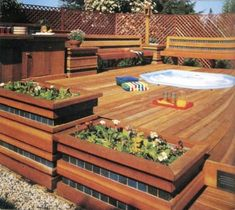 "TLC Home ""Deck Ideas"" - I want to build something like this next to my deck for planting veggies. So much better than trying hydrangeas over and over again"