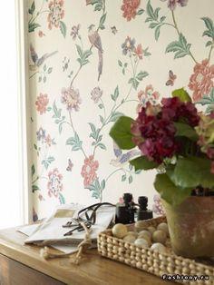 Bird & floral wallpaper - Laura Ashley
