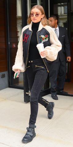 Gigi Hadid's cool-girl street style.