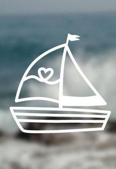 Sailboat for your unique DIY project – plotter file via Makerist.de - Home & DIY Plotter Silhouette Cameo, Foto Fun, Unique Home Accessories, Silhouette Portrait, Diy Videos, Sailboat, Diy Desk, Diy Fashion, Autumn Fashion