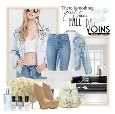 """""""Yoins c"""" by sneky ❤ liked on Polyvore featuring Faustine Steinmetz, 7 For All Mankind, Ally Fashion, Orlane and Deborah Lippmann"""