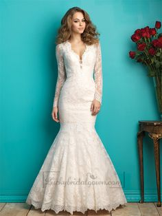 Beautiful scalloped lace edges the neckline, while a sheer illusion panel accents the back.
