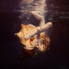 Girl under water. By Brooke Shaden. #Photography