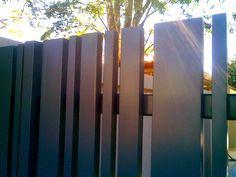 contemporary aluminum fence - Google Search