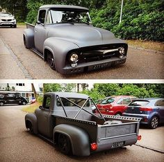Hot Wheels - Yeah @olethalb with his bad ass Ford F100 rocking that mean aggressive static stance! So sweet. #ford #f100 #hotrod #carporn #streetrod #streetmachine #streettruck #chopped #static #lowfastfamous