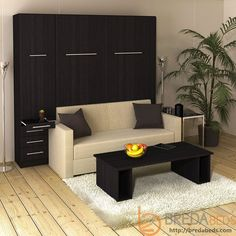 murphy bed with sofa. InLine Murphy Bed With Hutch And Sofa-Closed Sofa
