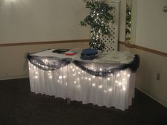 navy wedding reception ideas | Navy Blue and White Wedding- Under lighted and navy blue decorated ...