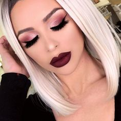 Shadows using the new #anastasiabeverlyhills modern Renaissance palette ✨ lips #hudabeauty @hudabeauty lip contour in Vixen ✨ hair by @powderroomd