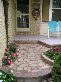 Random Pathway Stone Decor Concrete Stepping Mold Paver New Patio Paving Design - All For Garden Concrete Stepping Stone Molds, Stepping Stone Walkways, Concrete Walkway, Concrete Garden, Pathway Stone, Diy Concrete, Cobblestone Walkway, Concrete Molds, Paving Design