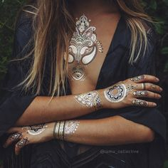 Henna metalic temporary tattoos