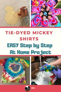 Take your tie-dye to the next level with this easy guide to tie-dying a shirt with a Mickey head in the middle!  Fun and easy summer craft.