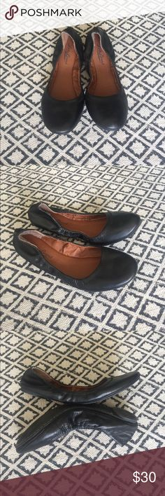 Lucky Brand Eleesia Black Ballet Flats Size US 8 Slip-on the elasticized Eleesia Flat for a feminine, down-to-earth approach to dressing your feet. Sizing: A bit snug. Round toe. Elasticized opening. Cushioned insole. Never worn! Lucky Brand Shoes Flats & Loafers