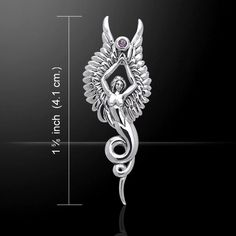 This Fiery Phoenix is the perfect accessory for any fantasy lover. Meticulously crafted from fine Sterling Silver with Crystal accents.