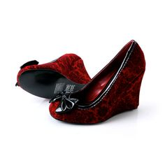 red and black corset skull heels. want. (a favourite repin of VIP ...