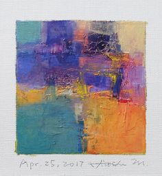 Apr. 25 2017 Original Abstract Oil Painting 9x9 painting