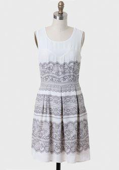 Rebecca Lace Print Dress | Modern Vintage Clothing