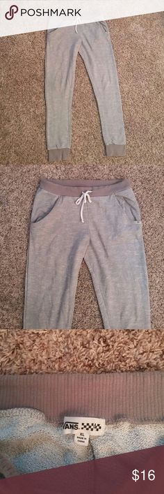 Vans sweat pants I love these sweat pants but making room for my excersize clothes. They fit like womens size large Vans Pants Skinny