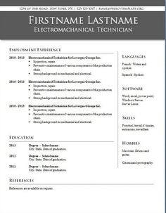 downloadable resume templates for word 2010 - Words Resume Template