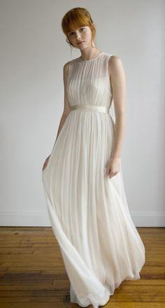 Wedding dress, simple, romantic