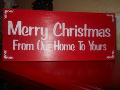 Merry Christmas From Our House To Yours Rustic Sign by AngelPaws6
