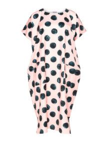 Yoona Printed midi dress in Pink / Black
