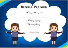 Thank you certificate template – Templates For Free Use - Demplates Certificate Templates, Appreciation, Family Guy, Teacher, Disney Characters, Free, Military, Spring, Color