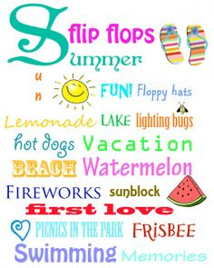 Memories of #summer free printable. #summerathome