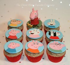 Peppa Pig Cupcakes by The Clever Little Cupcake Company (Amanda), via Flickr