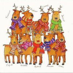 Charity Christmas Card - Team Rudolph - Cards For Good Causes