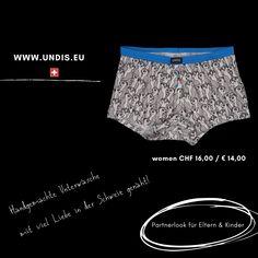 UNDIS www.undis.eu Bunte, lustige und witzige Boxershorts & Unterhosen im Partnerlook für Männer, Frauen und Kinder. #undis #bunte #kinderboxershorts #lustigeboxershorts #boxershorts #frauenunterwäsche #männerboxershorts #männerunterwäsche #herrenboxershorts #kinder #bunteboxershorts #unterwäsche #handgemacht #verschenken #familie #partnerlook #mensfashion #lustige #valentinstaggeschenk #geschenksidee #eltern #vatertagsgeschenk Lace Shorts, Women, Fashion, Self, Funny Underwear, Briefs, Men's Boxer Briefs, Man Women, Great Gifts