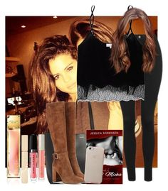 """""""Over You"""" by black-ocean12 ❤ liked on Polyvore featuring Topshop, Yves Saint Laurent, Wilfred, Marc Jacobs, Stila, Ilia, Gianvito Rossi, girl and selenagomezsets"""