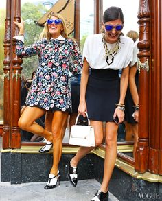Anna Dello Russo and Giovanna Battaglia - Paris Fasion Week - Spring 2014