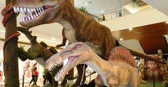 Shopping Piracicaba tem exposição com dinossauro de 2 metros de altura