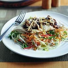 Steamed Fish with Asian Salad