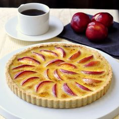 Summer Fruit Creme Brulee Tart - Nectarines are delicious in this elegant tart but so are many other summer fruits like peaches, apricots, plums or even strawberries.
