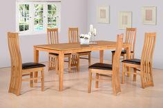 £321.00  Ainsley Extending Dining Set In Oak Veneer/brown