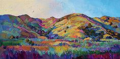 California Greens II by Erin Hanson - California Greens II Painting - California Greens II Fine Art Prints and Posters for Sale
