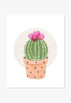 Cactus Art Print | ColorBee Creative