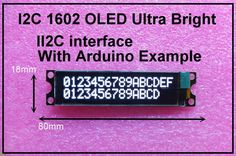This is another great White OLED display without extra backlight and savethe power. As the pin resources of Arduino controller is limited, However, with this I2C interface OLED module, you will be able to realize data display via only 2 wires. | eBay!